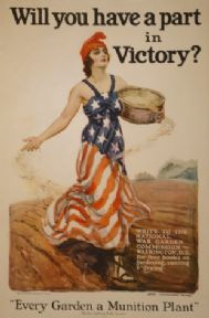"Vintage WW1 Poster ""Will you have a part in Victory?"""